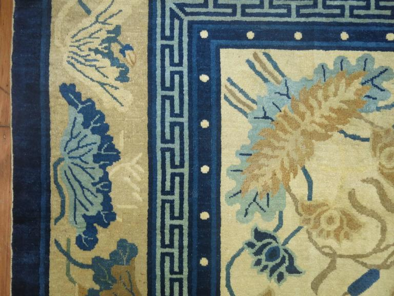 Antique Chinese Peking Rug For Sale 2