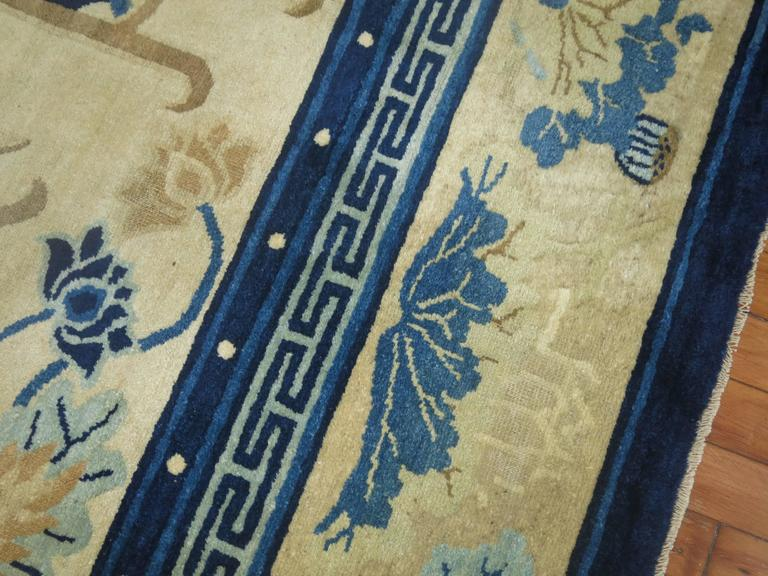 Antique Chinese Peking Rug For Sale 3