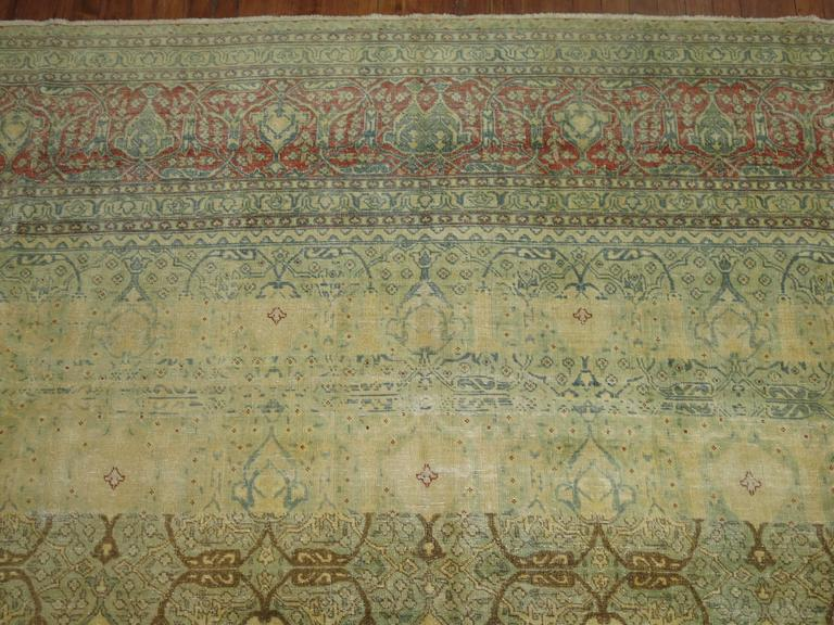 Asian Antique Persian Isfahan Carpet For Sale