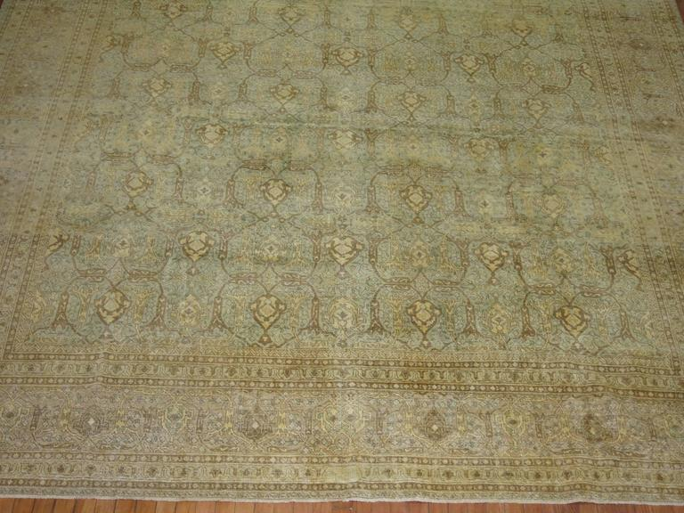 Antique Persian Isfahan Carpet In Good Condition For Sale In New York, NY