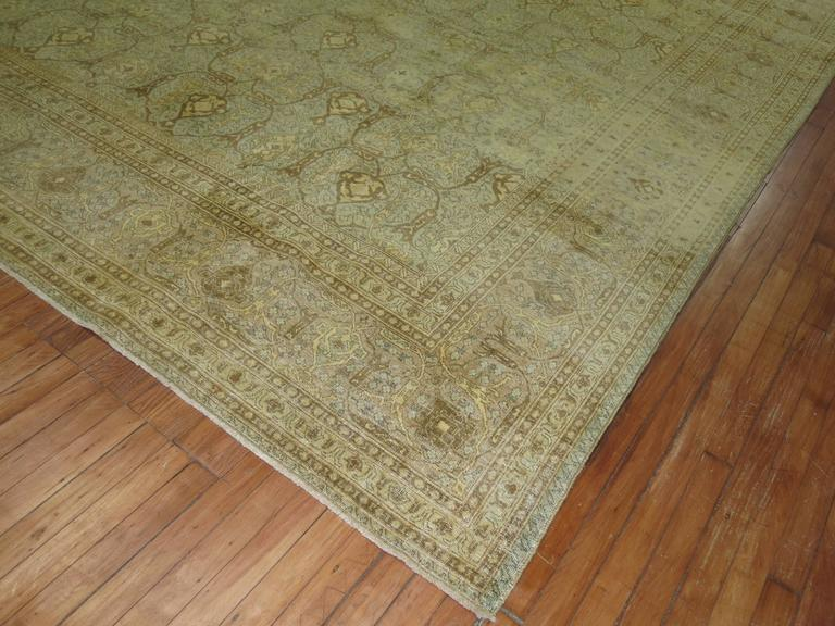 20th Century Antique Persian Isfahan Carpet For Sale
