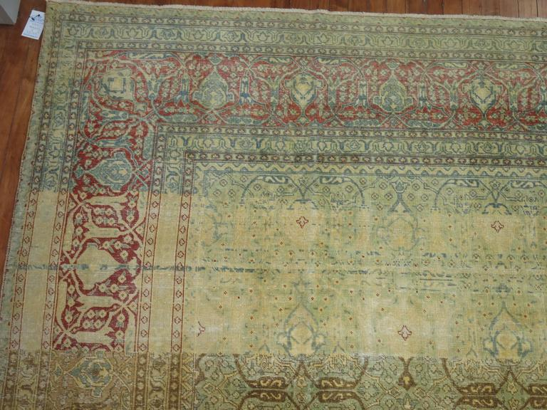 Antique Persian Isfahan Carpet For Sale 1