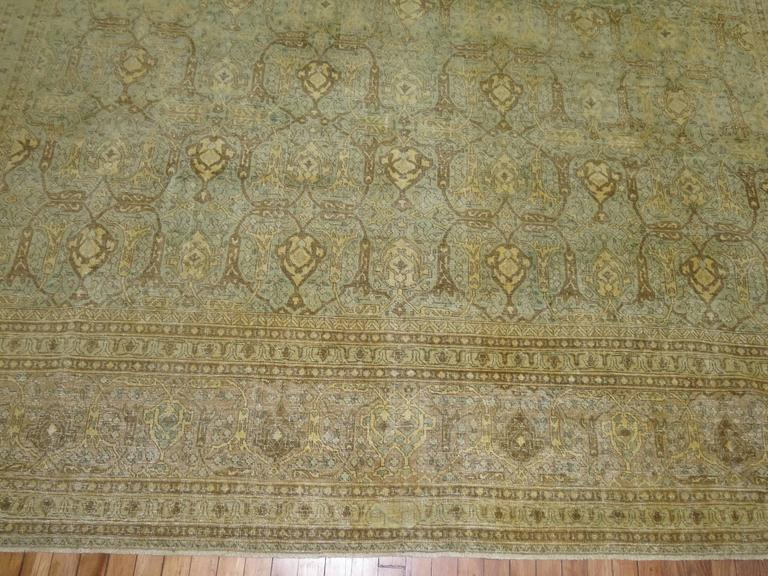 Antique Persian Isfahan Carpet For Sale 2