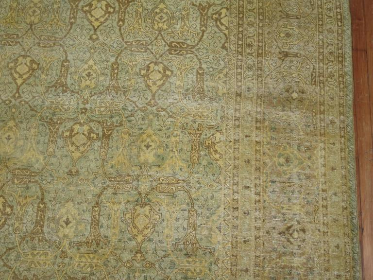 Antique Persian Isfahan Carpet For Sale 3