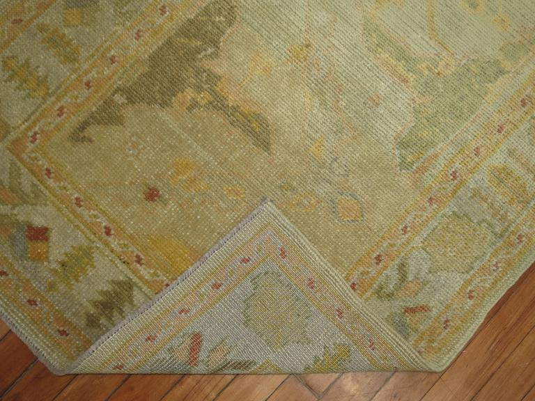British Colonial Gold Brown Vintage Inspired Turkish Runner For Sale