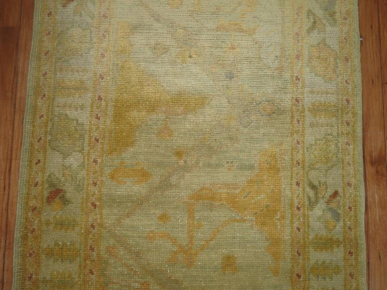 20th Century Gold Brown Vintage Inspired Turkish Runner For Sale