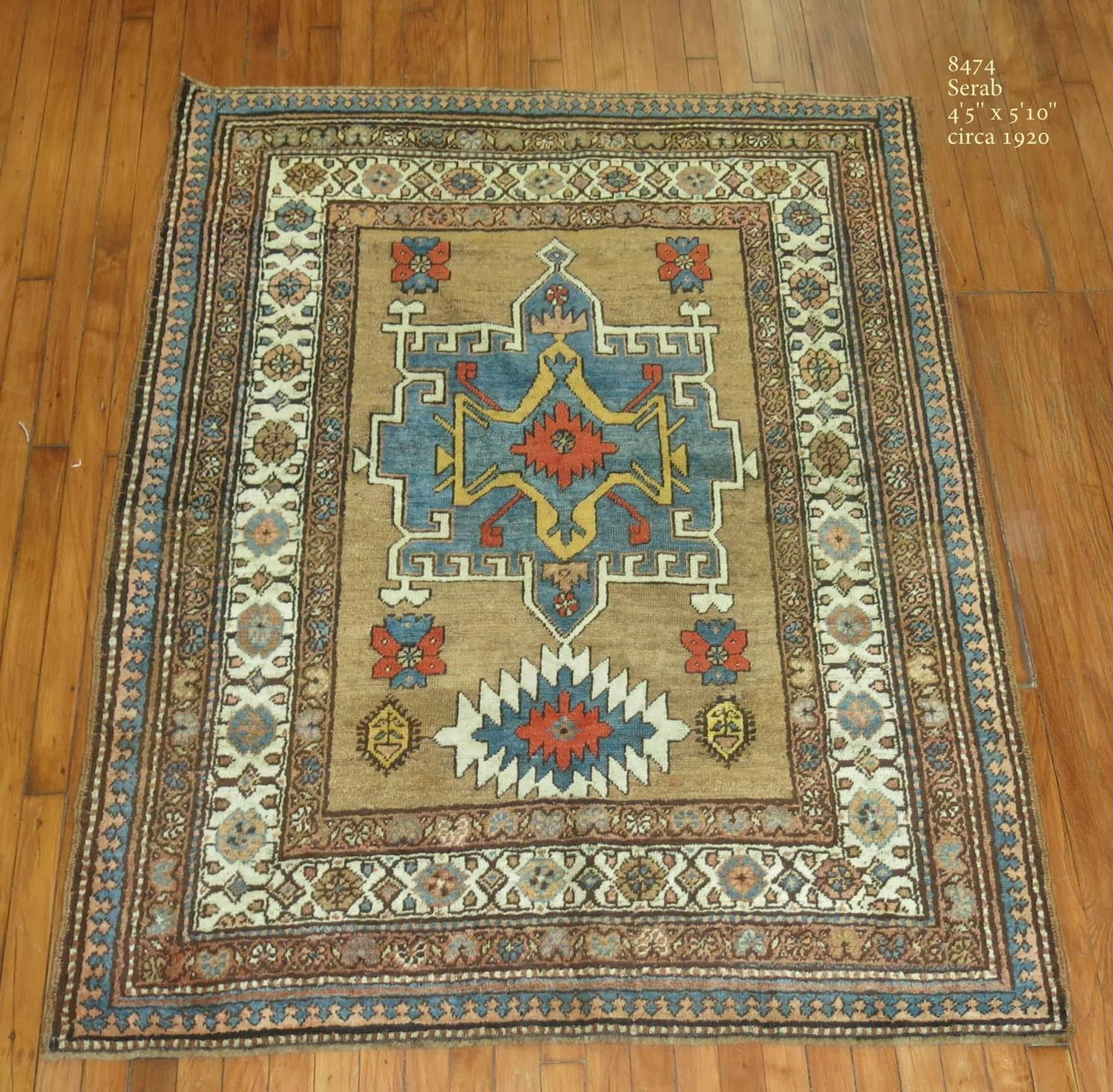 Camel Antique Persian Serab Rug For Sale At 1stdibs