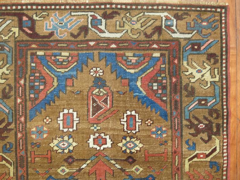 Tribal Camel Persian Bakshaish Runner, Early 20th Century For Sale 1