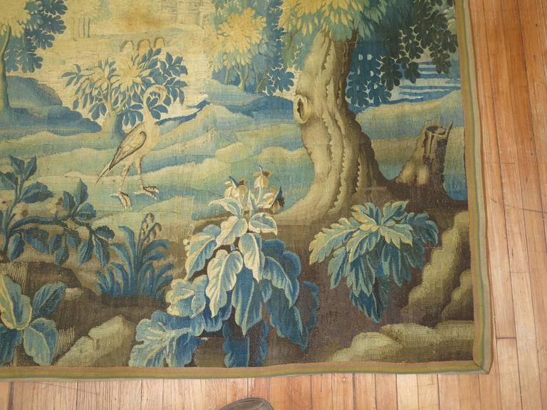 Wool French Tapestry Wall Hanging For Sale