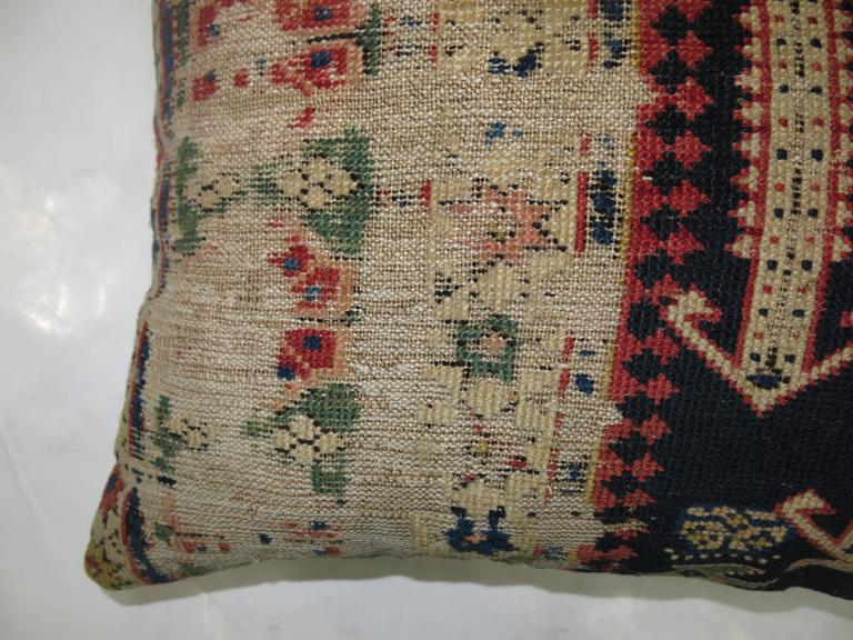 Kazak Lumbar Caucasian Rug Pillow For Sale