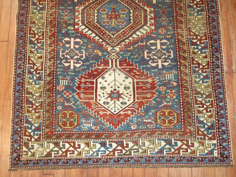 Hand-Knotted Caucasian Shirvan Rug For Sale