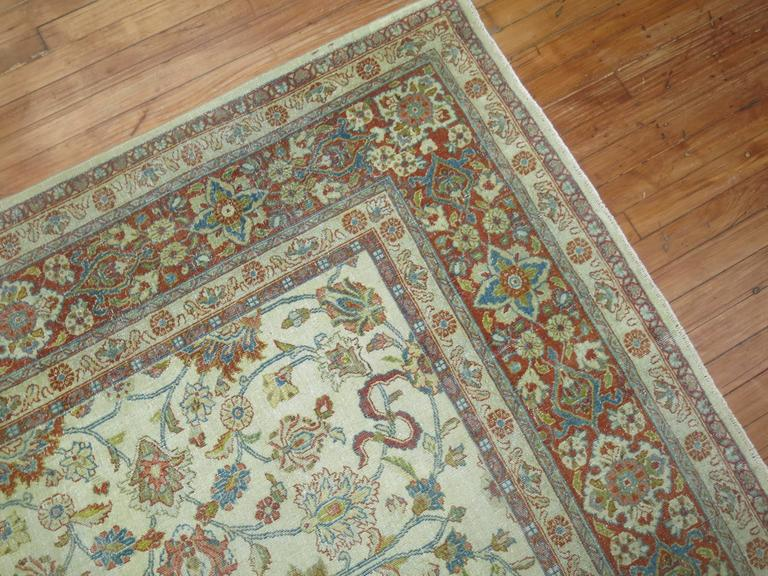 Shabby Chic Ivory Ground Persian Rug 2