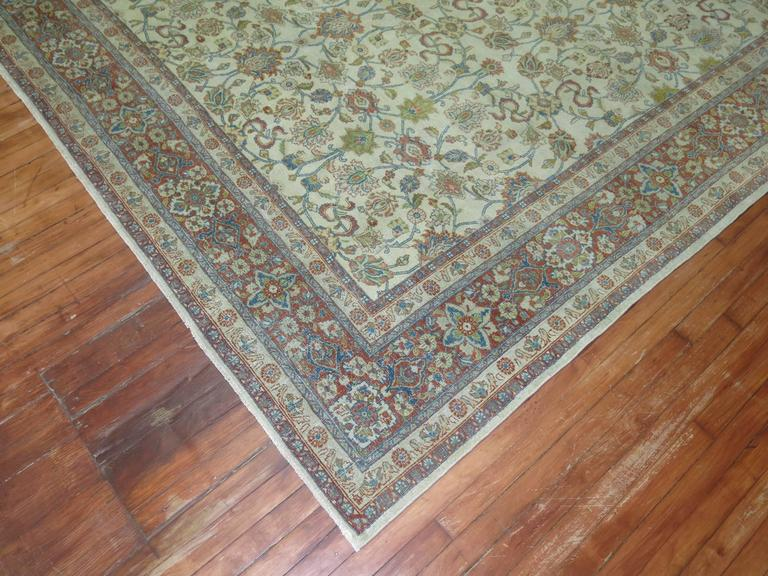 Shabby Chic Ivory Ground Persian Rug 3