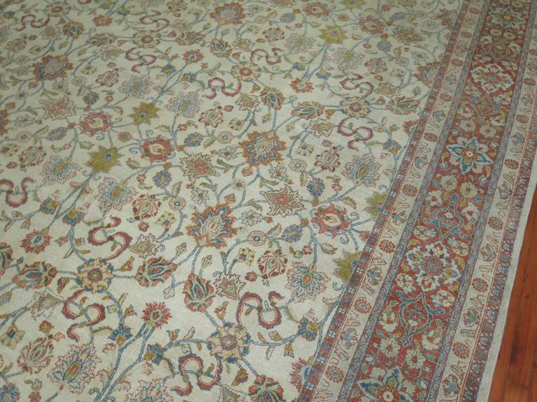 Shabby Chic Ivory Ground Persian Rug 4