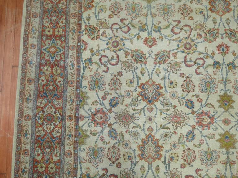 Shabby Chic Ivory Ground Persian Rug 7