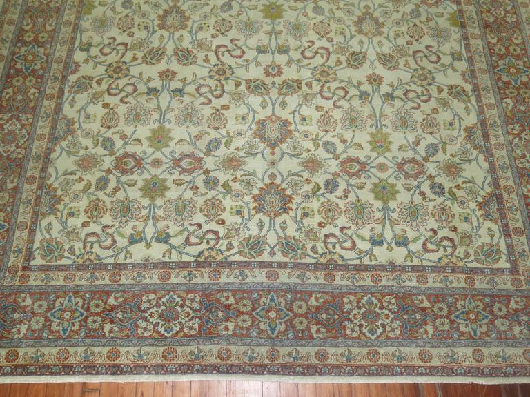 Shabby Chic Ivory Ground Persian Rug 5