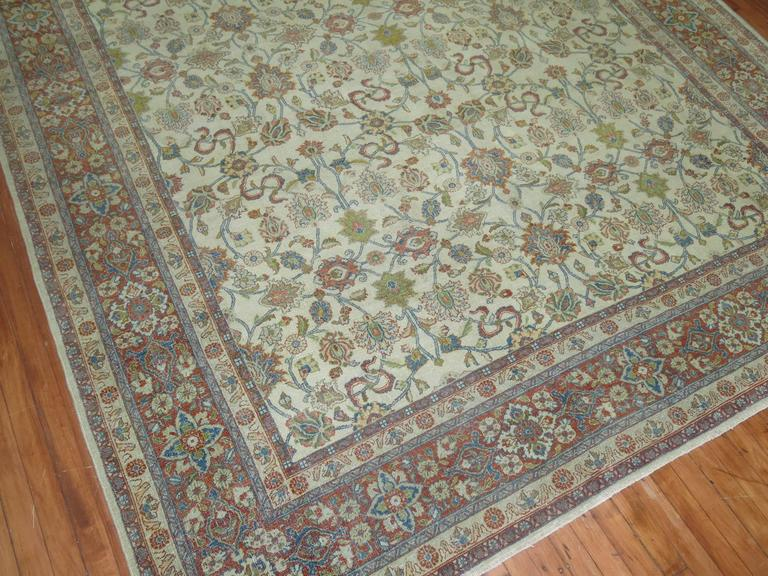 Shabby Chic Ivory Ground Persian Rug 6
