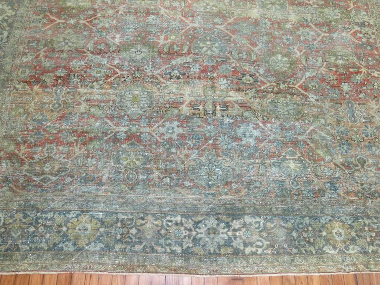 Shabby Chic Persian Mahal Carpet For Sale 2