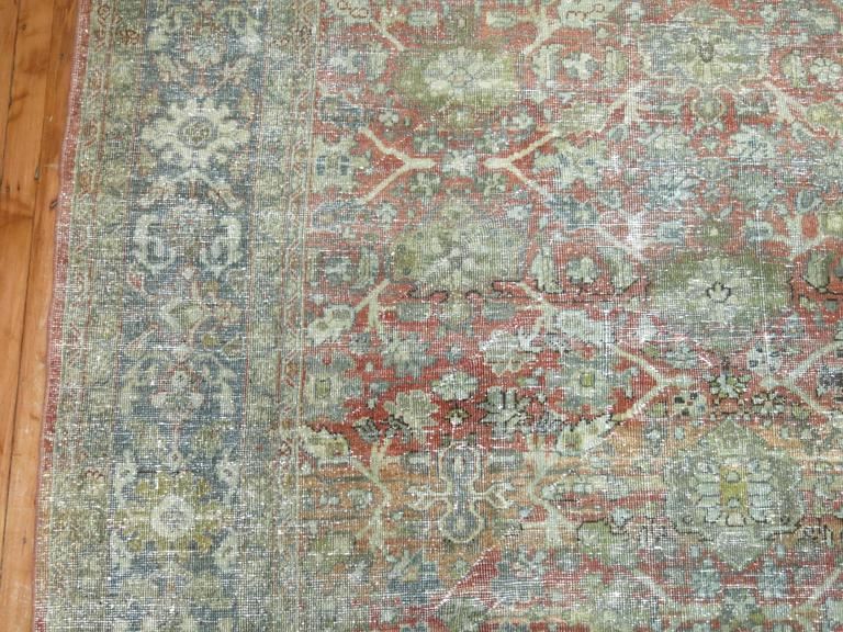 Shabby Chic Persian Mahal Carpet For Sale 3