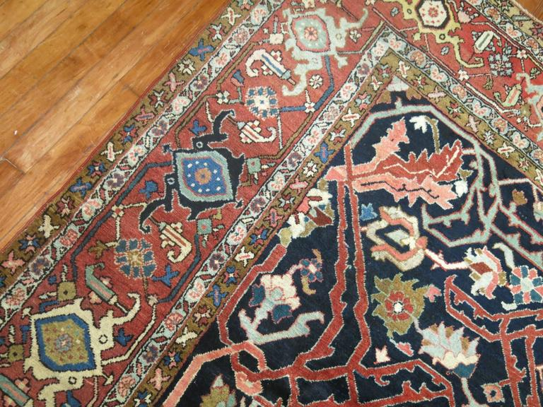 Heriz Serapi Antique Persian Serapi Rug For Sale
