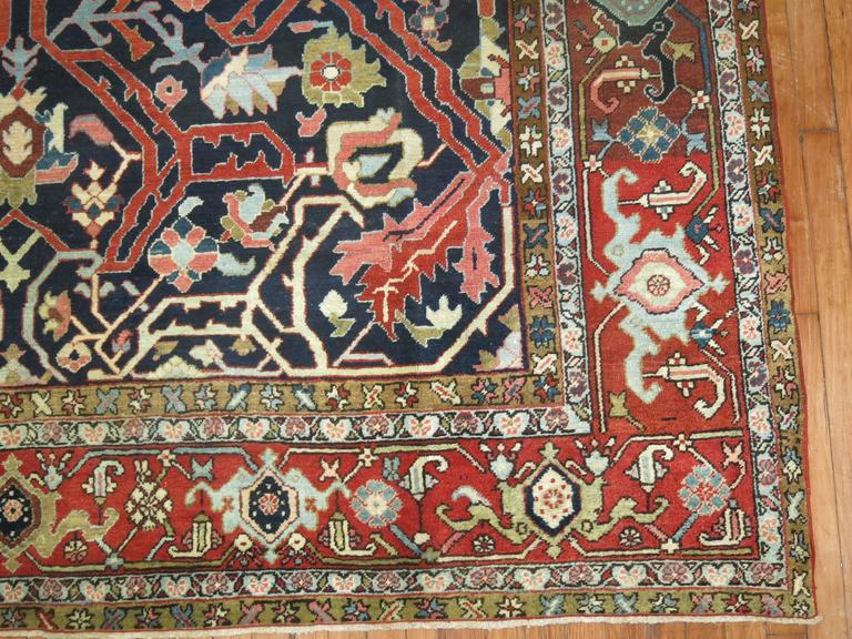 Antique Persian Serapi Rug For Sale 1