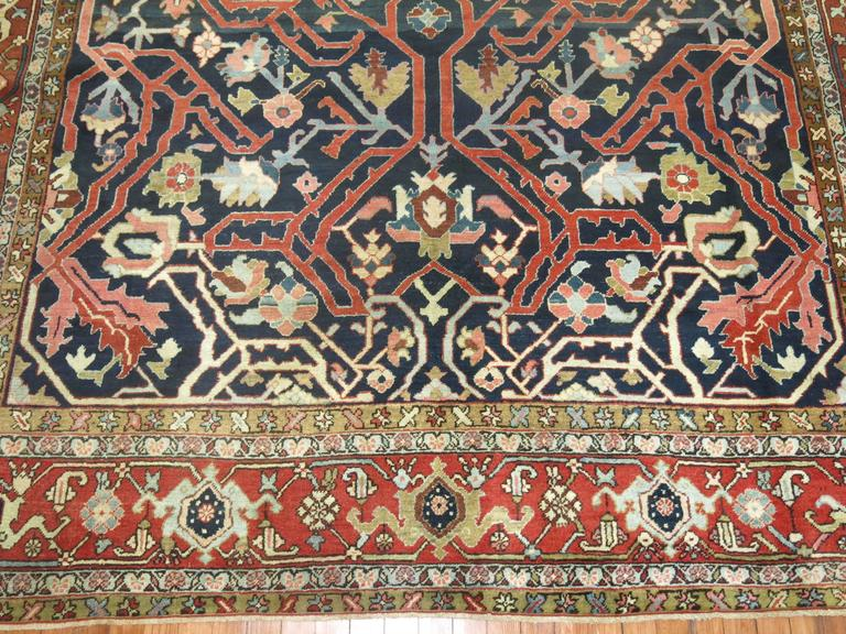 Antique Persian Serapi Rug For Sale 2