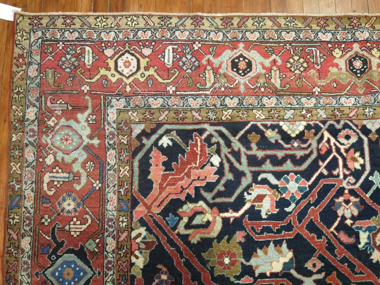 20th Century Antique Persian Serapi Rug For Sale