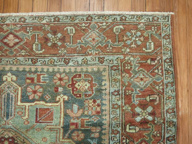 Antique Persian Heriz Karadja Rug 3