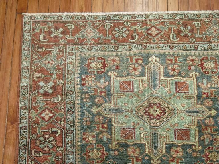 Hand-Knotted Antique Persian Heriz Karadja Rug For Sale