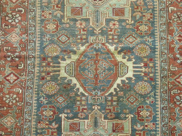 Antique Persian Heriz Karadja Rug 6