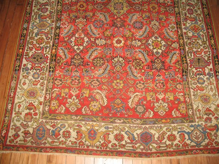 Persian Malayer Rug with Red Herati Design Field 2