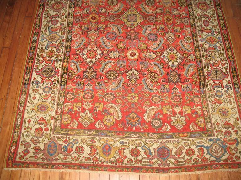 Persian Malayer Rug with Red Herati Design Field 5