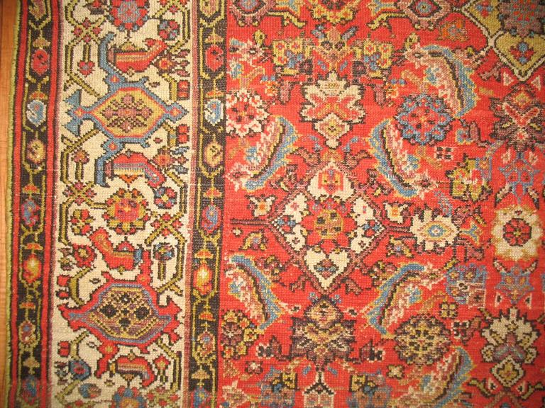 Persian Malayer Rug with Red Herati Design Field 4