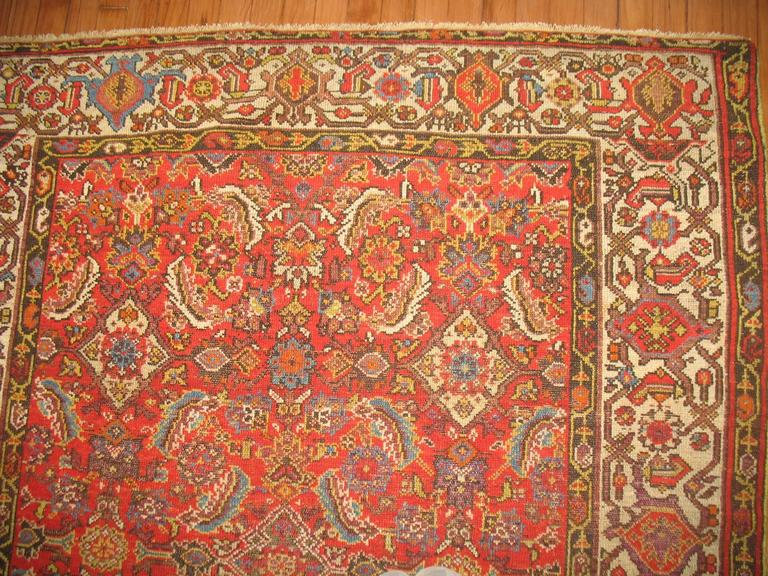 Persian Malayer Rug with Red Herati Design Field 3