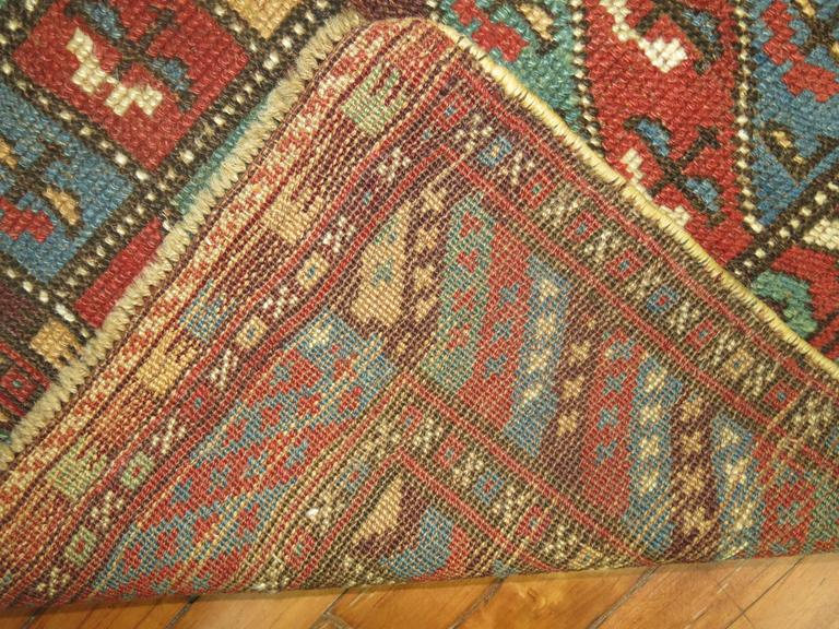 Hand-Knotted Antique Kurdish Rug For Sale