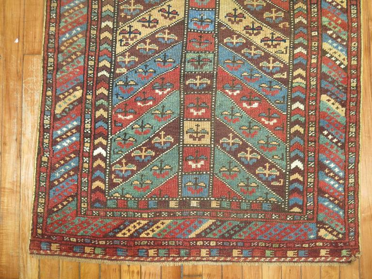 Antique Kurdish Rug In Excellent Condition For Sale In New York, NY