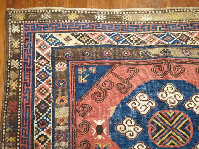 Vintage Turkish Kars Rug Influenced by 19th Century Khotan Rugs For Sale 1