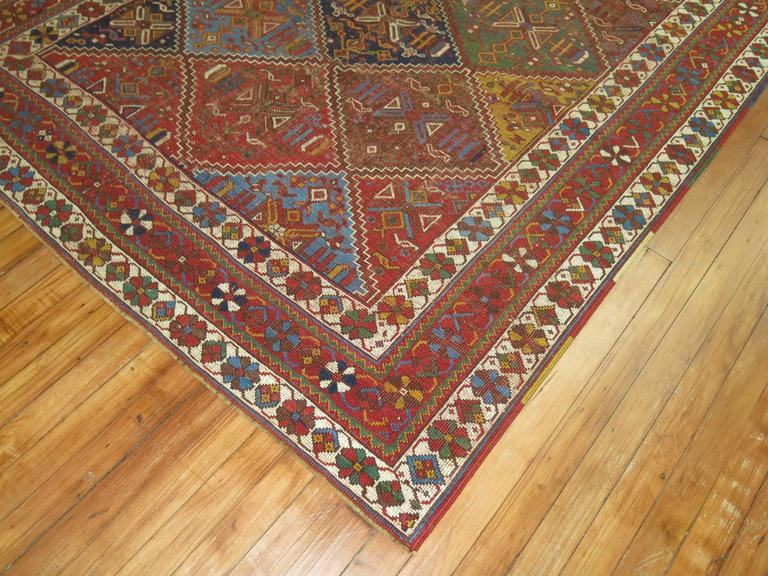Primitive Shabby Chic Persian Rug For Sale