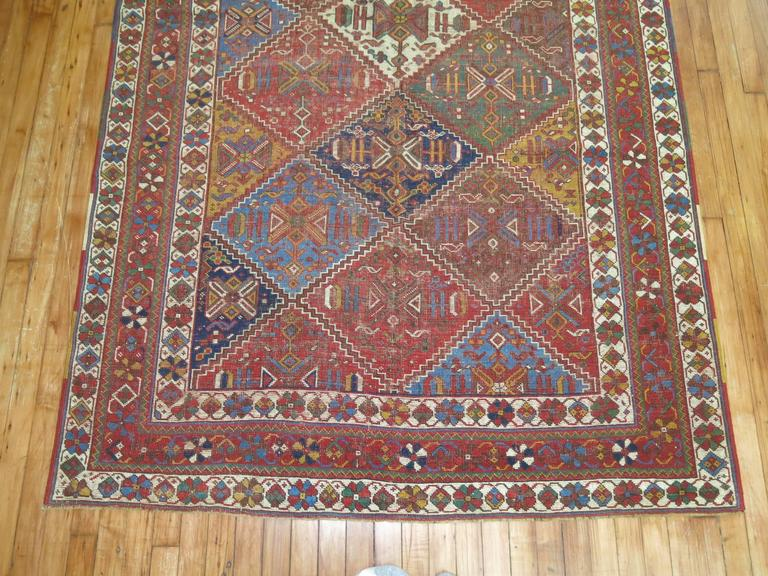 Hand-Knotted Shabby Chic Persian Rug For Sale