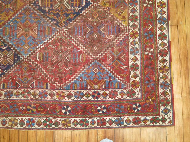 Shabby Chic Persian Rug In Good Condition For Sale In New York, NY