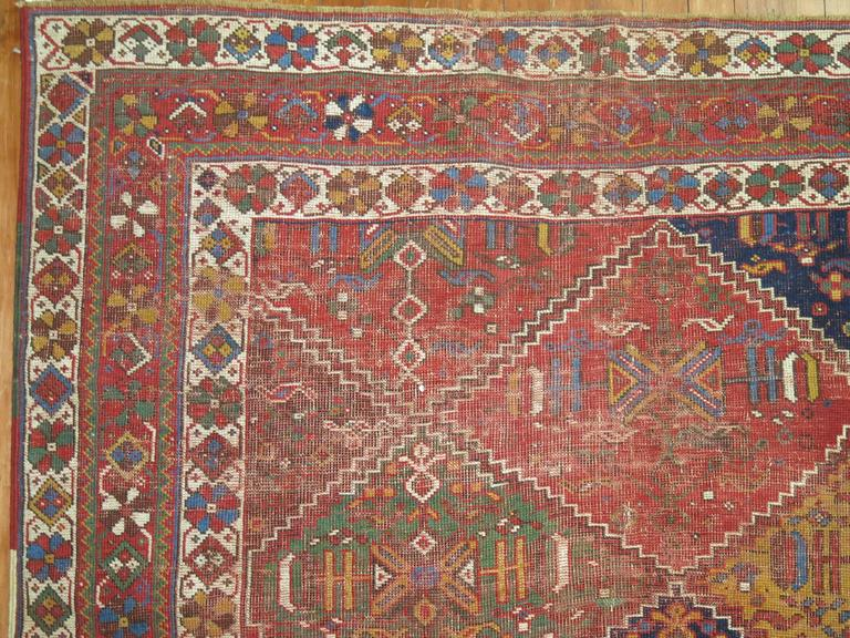 20th Century Shabby Chic Persian Rug For Sale