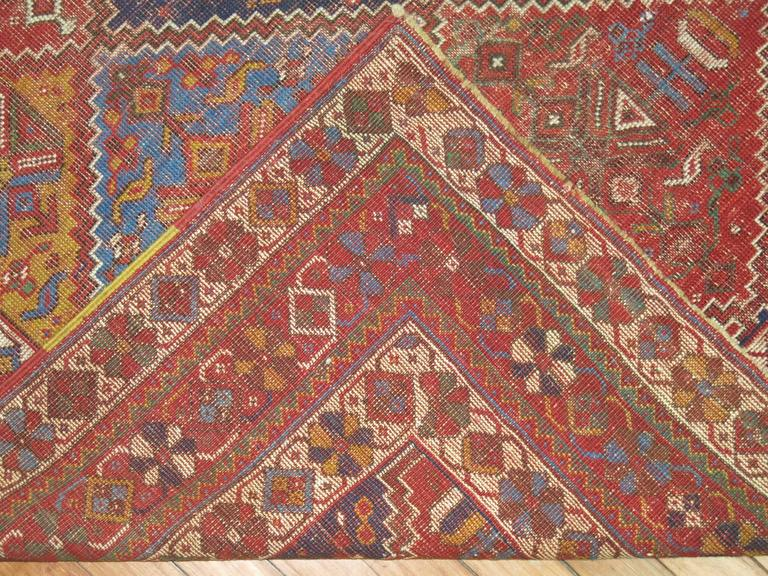 Wool Shabby Chic Persian Rug For Sale