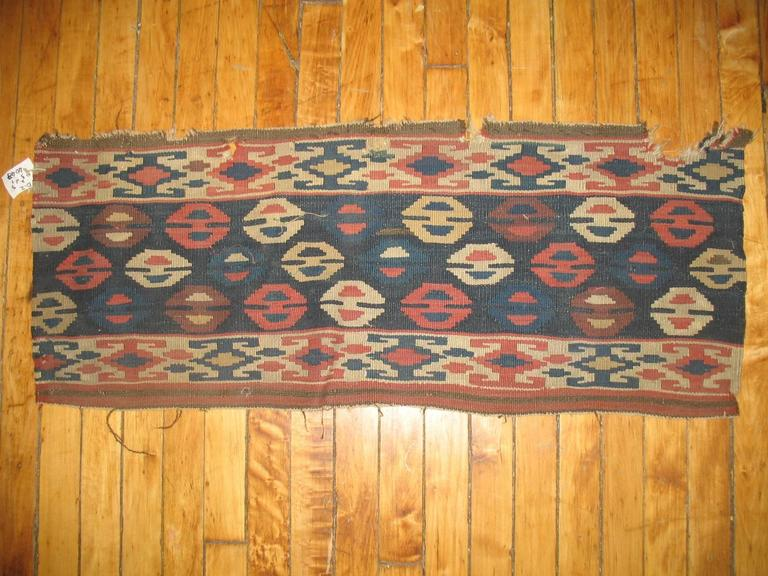 Tribal Pair of 19th Century Persian Kilim Fragments For Sale