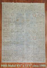 Shabby Chic Antique Persian Mahal Rug in Water Colors