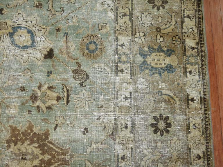 Shabby Chic Persian Tabriz Carpet For Sale 1