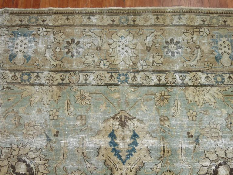 20th Century Shabby Chic Persian Tabriz Carpet For Sale