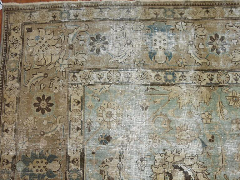 Shabby Chic Persian Tabriz Carpet For Sale 2