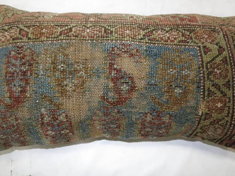Shabby Chic Persian Bolster Pillow For Sale at 1stdibs
