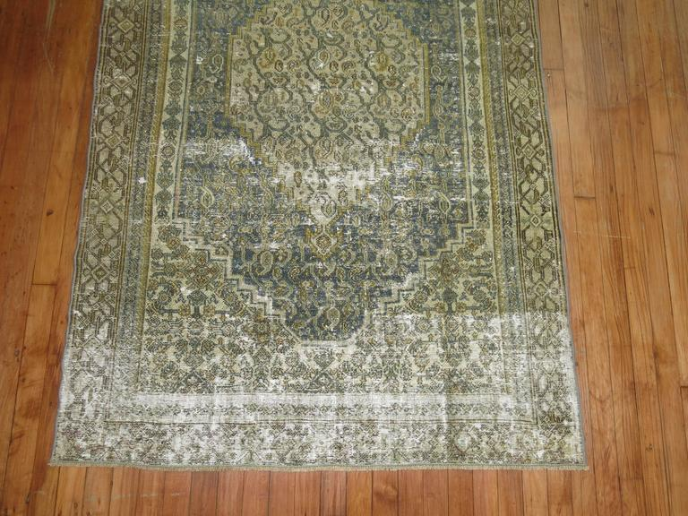 Malayer Shabby Chic Persian Bibikabad Rug For Sale