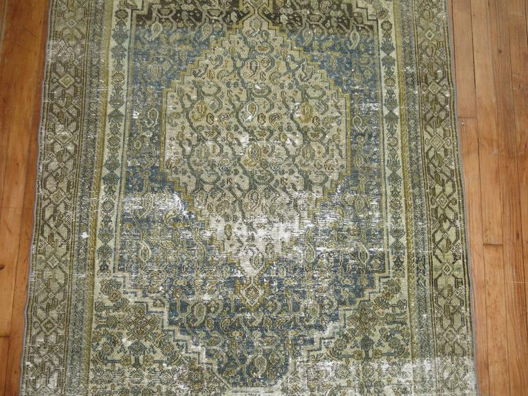 Shabby Chic Persian Bibikabad Rug For Sale 1